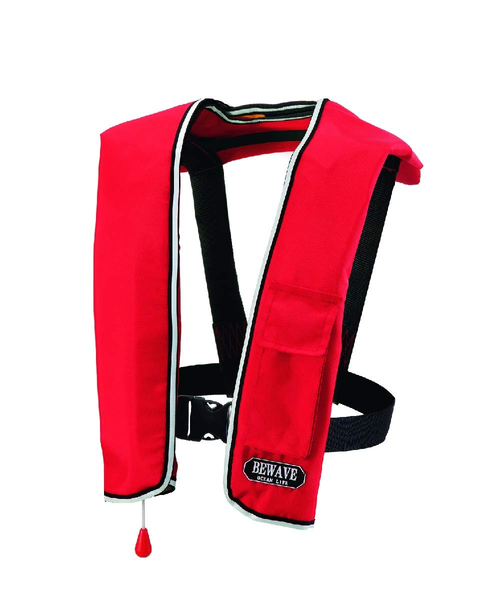 ocean life(オーシャンライフ) 国土交通省型式承認ライフジャケット 自動膨脹ショルダー式 作業用 LG-1型 レッド LG-1型 レッド   B00ZE8FRQ0
