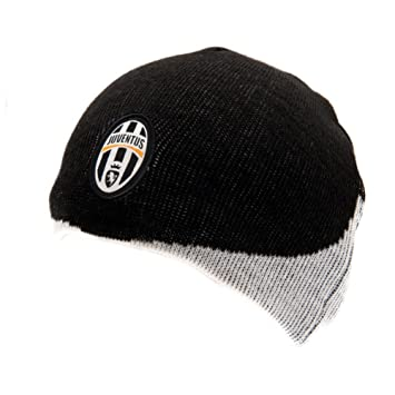 33bd11ff58ffff Official JUVENTUS FC home style black and white beanie hat cap ...