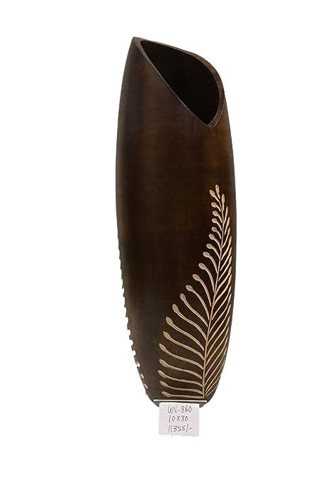 Buy Craft Culture Mango Wood Vase Wooden Floor Vases Decorative
