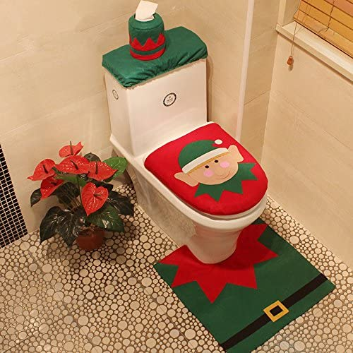 Enterest - Juego de 3 piezas de decoración navideña para asiento ...