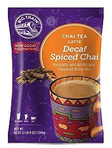 Big Train Chai Tea Latte Decaf Spiced 3.8 Pound Powdered Instant Chai Tea Latte Mix, Spiced Black Tea with Milk, For Home, Café, Coffee Shop, Restaurant Use
