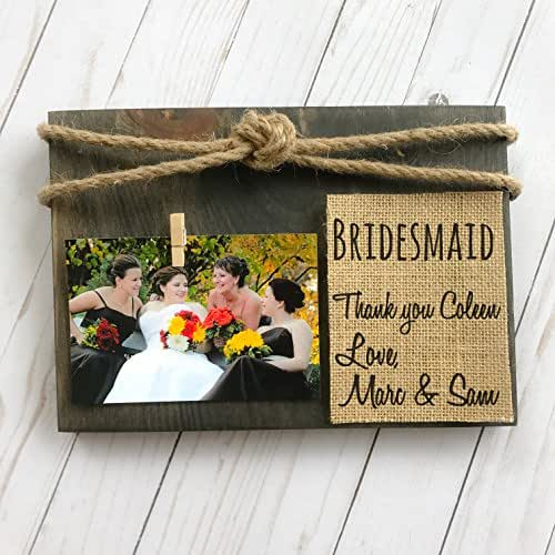 Amazon.com: Bridesmaid Gift, Bridesmaid Frame, Thank You Gift ...