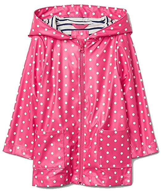 b4e7d0ee028c1 Image Unavailable. Image not available for. Color  BabyGap Pink White Polka  Dot Rain Jacket ...