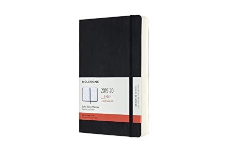 Moleskine Classic 18 Month 2019-2020 Daily Planner, Soft Cover, Large (5