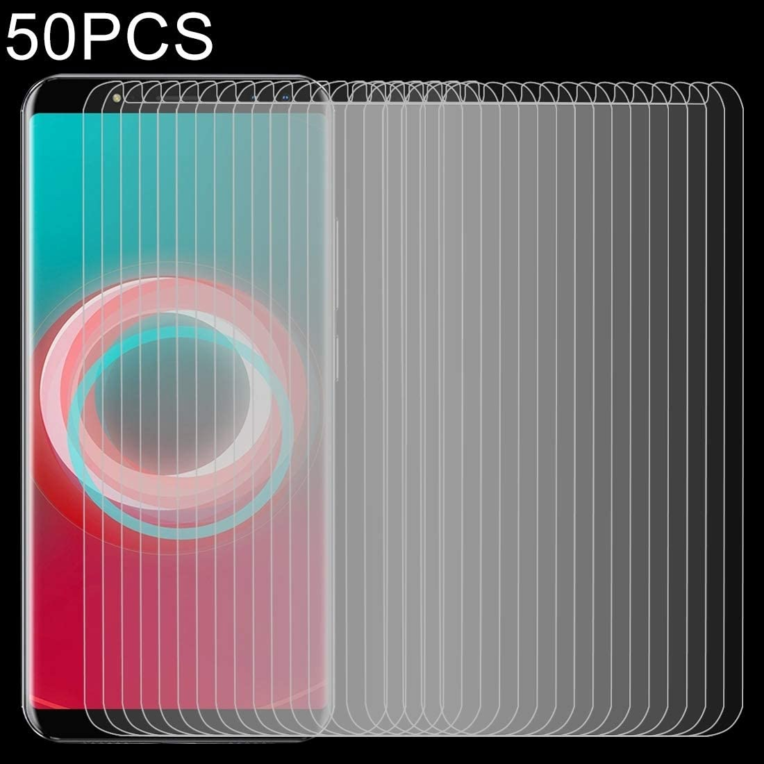 50 PCS 0.26mm 9H 2.5D Tempered Glass Film for Ulefone Power 3S Clear YINZHI Screen Protector Film