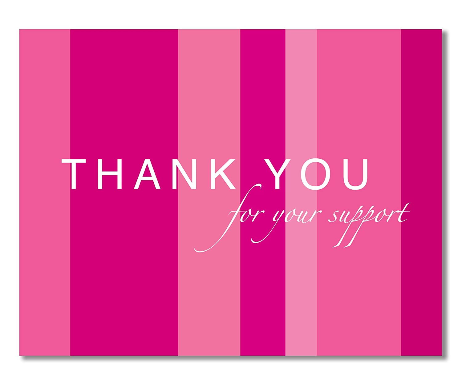 Amazon.com: 10 Breast Cancer Support, Pink Ribbon Thank You Cards, Recycled  - For Breast Cancer Awareness, Charity Events, Runs, Walks - Hot Pink -  Jenna by ...