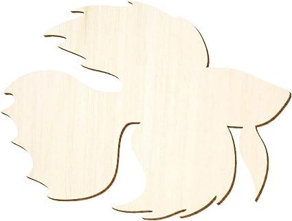 Betta Fisch 3-50cm Breite Holz Zierfisch Basteln Deko