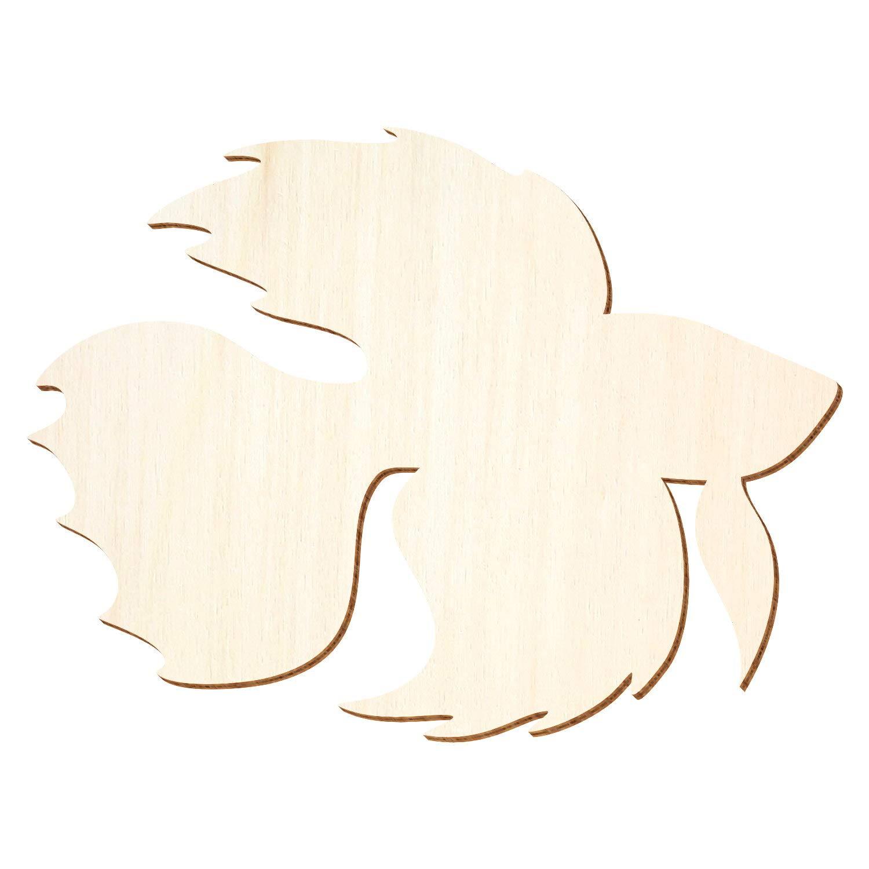 Holz Zierfisch, Betta Fisch - 3-50cm Breite - Basteln Deko, Pack mit 50 Stück, Größe 49cm B07PBBG57C | Kunde zuerst