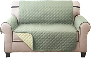Deluxe Reversible LoveSeat Furniture Protector, Olive/Sage