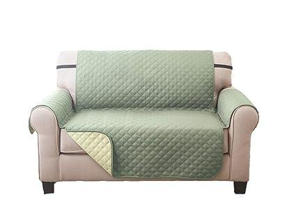 Sara Ashley Elegante Luxurious Reversible LOVESEAT Furniture Protector, Olive/Sage