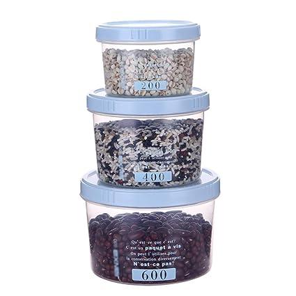 Cocina Transparente Comida Caja De Almacenamiento De Bocadillos Grano De Plástico Fruta Vegetal Fruta Seca Almacenamiento