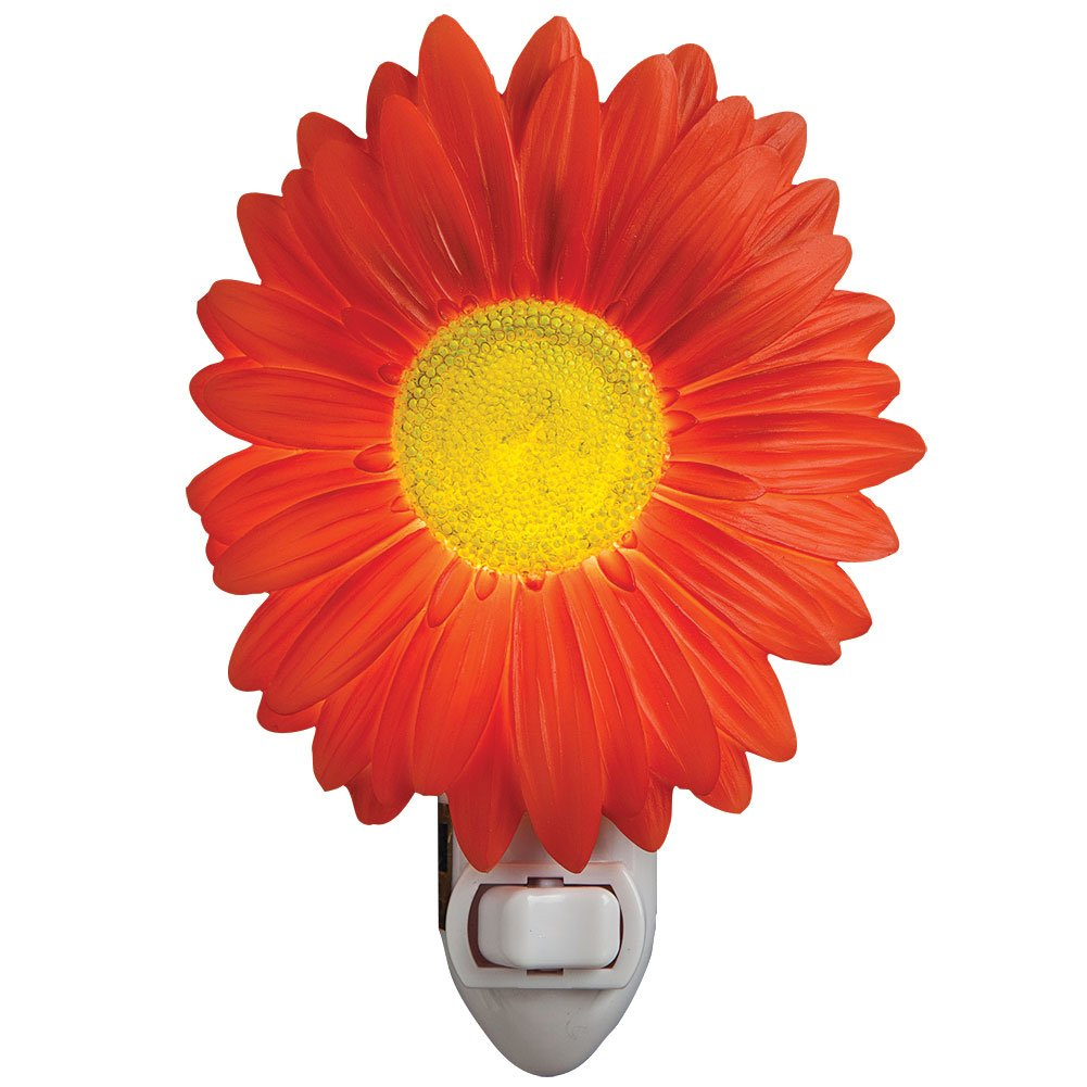 Red Painted Daisy Night Light by Ibis
