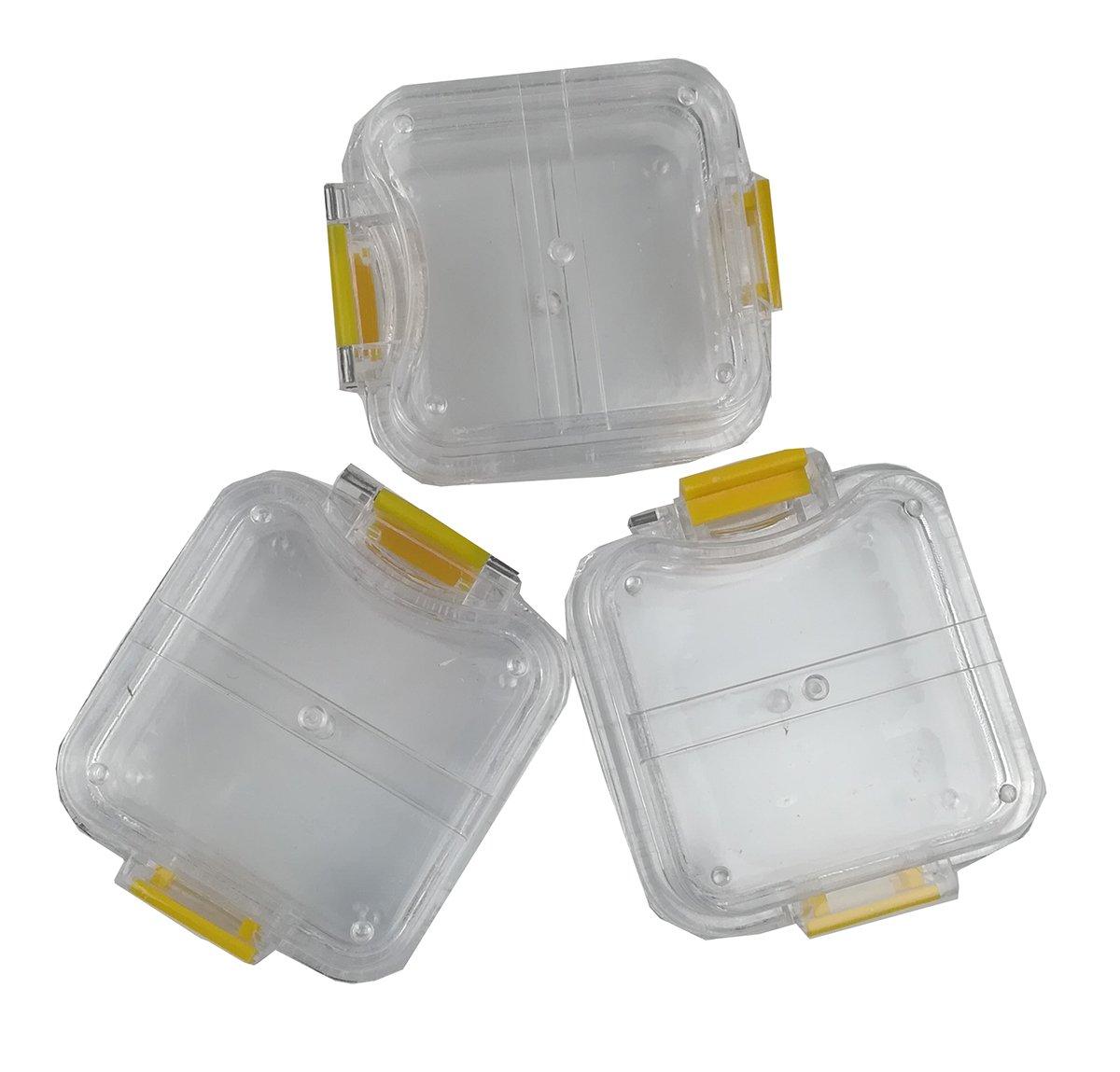TJIRIS 100 Pcs Handmade Transparent Membrane Tooth Box with Film Dental Tool Denture Crown/Bridge Box for Dental Lab