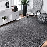 Cheap Nuloom 4′ x 6′ Hand Woven Ago Rug in Black