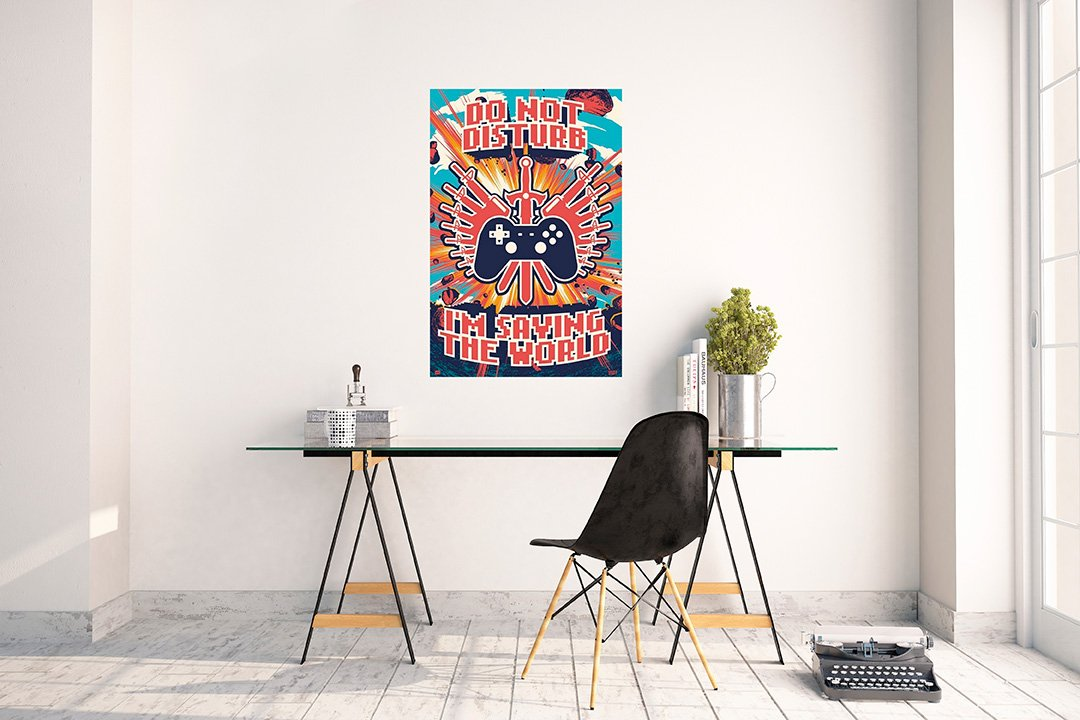Grupo Erik Editores Poster Gamer Saving The World