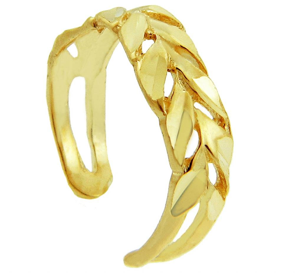 Yellow Gold Toe Ring (10K Gold) by More Toe Rings
