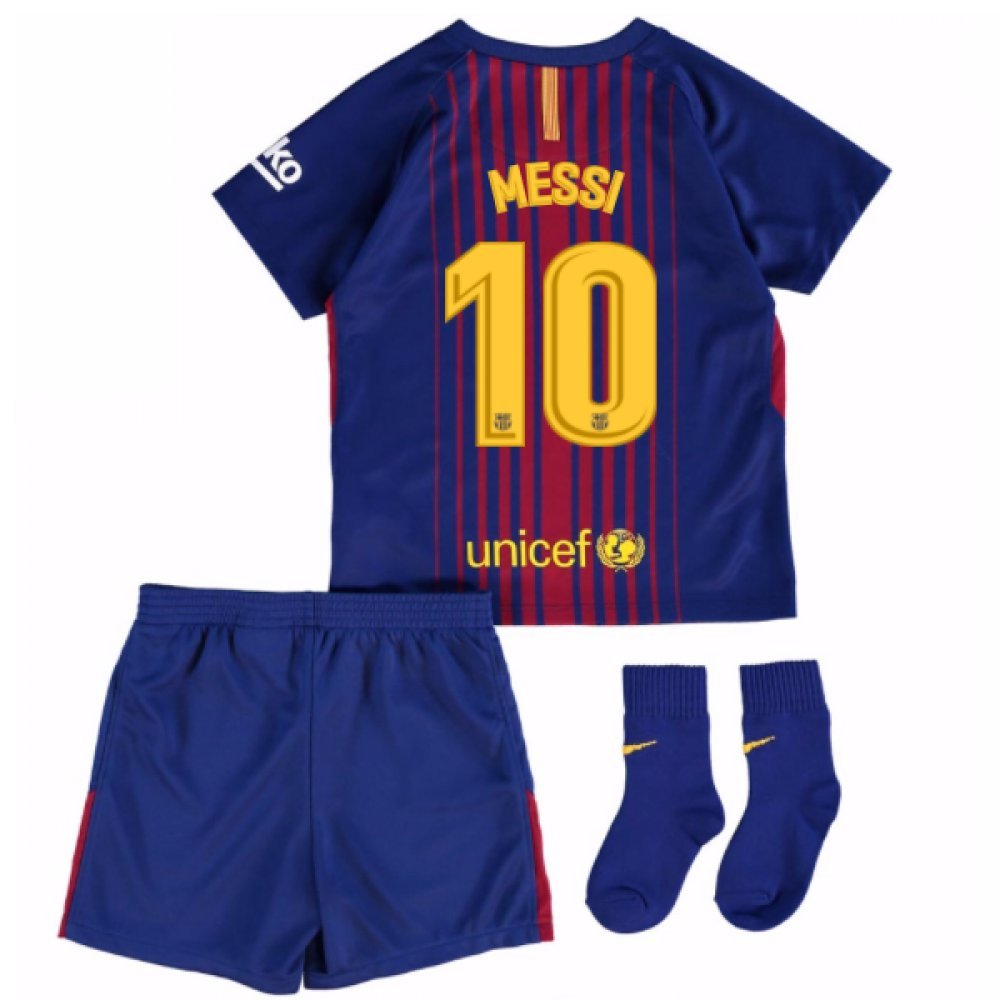 2017-18 Barcelona Home Baby Kit (Messi 10) B077PK3VQS 24/36 Months|Red Red 24/36 Months