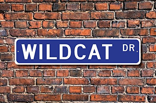 (CELYCASY Wildcat Wildcat Gift Wildcat Sign Wildcat Decor Wildcat Lover Asiatic Wildcat European Wildcat Custom Street Sign Quality Metal Sign)