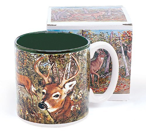 Deer In Forest Coffee Mug