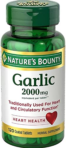 Nature s Bounty Garlic 2000mg, Tablets 120 ea Pack of 6