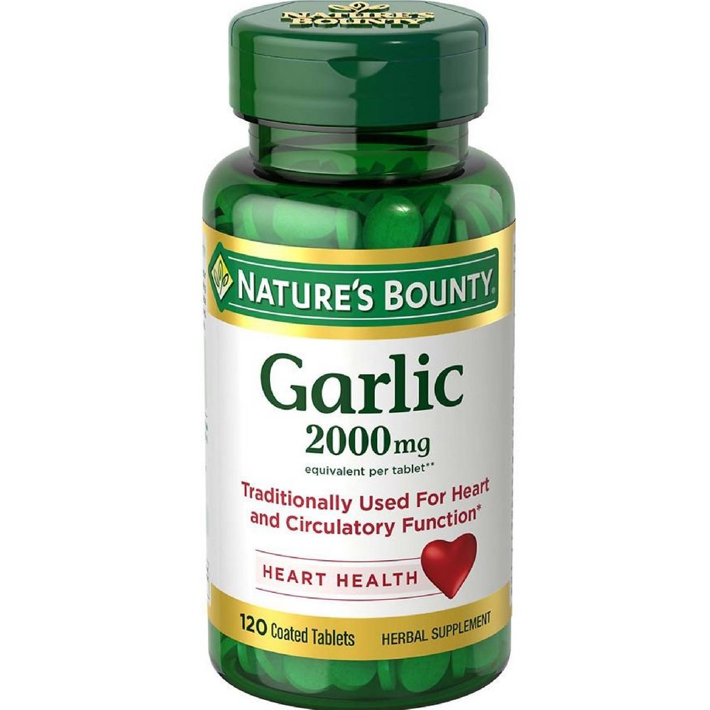 Nature's Bounty Garlic 2000mg, Tablets 120 ea ( Pack of 8)