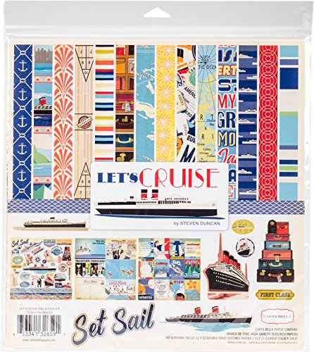 Carta Bella Paper Company CBLC65016 Let's Cruise Collection (Cruise Scrapbooking)