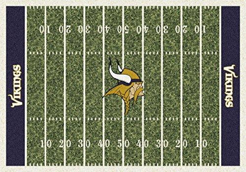 Nfl Football Team Area Rug (Minnesota Vikings NFL Team Home Field Area Rug by Milliken, 5'4
