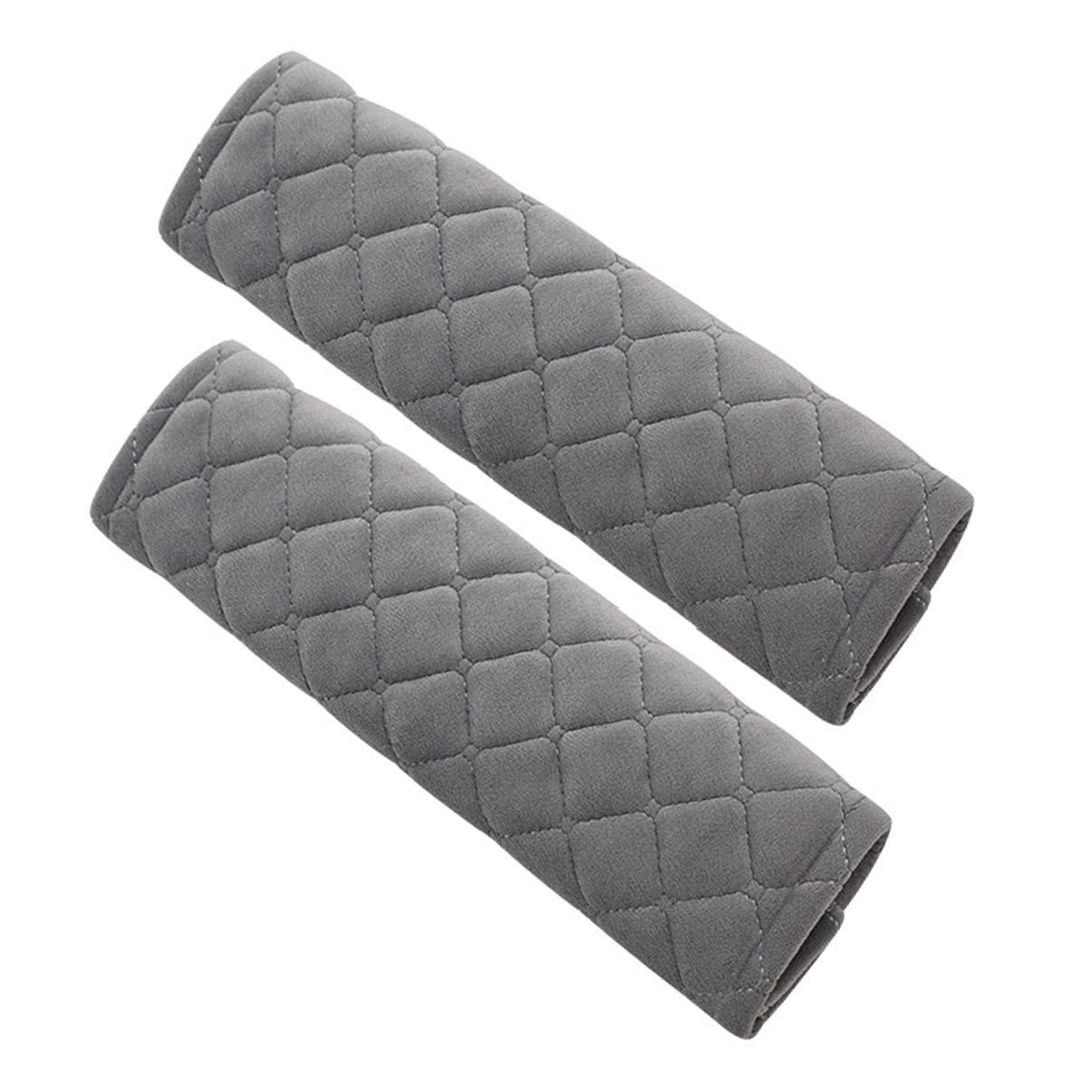 2 pezzi Cumay Guaine per cintura di sicurezza, Imbottiture Cintura, auto cintura di sicurezza comfort, Protezioni Comfort per Cintura di Sicurezza Auto Per bambini e adulti (Beige) Honsen