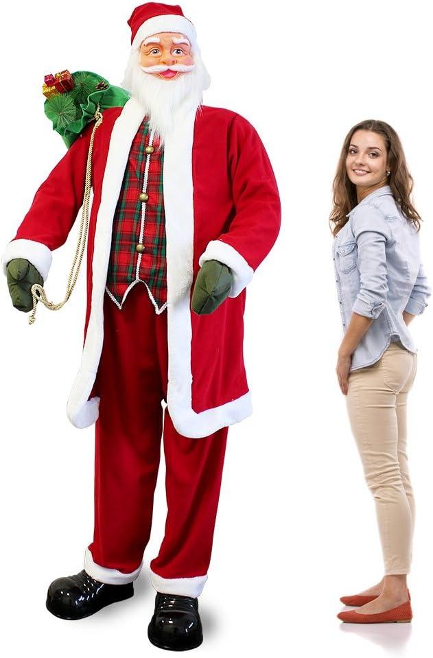 [lux.pro] Papá noel 200cm - canta y baila - con sensor de movimiento - Navidad