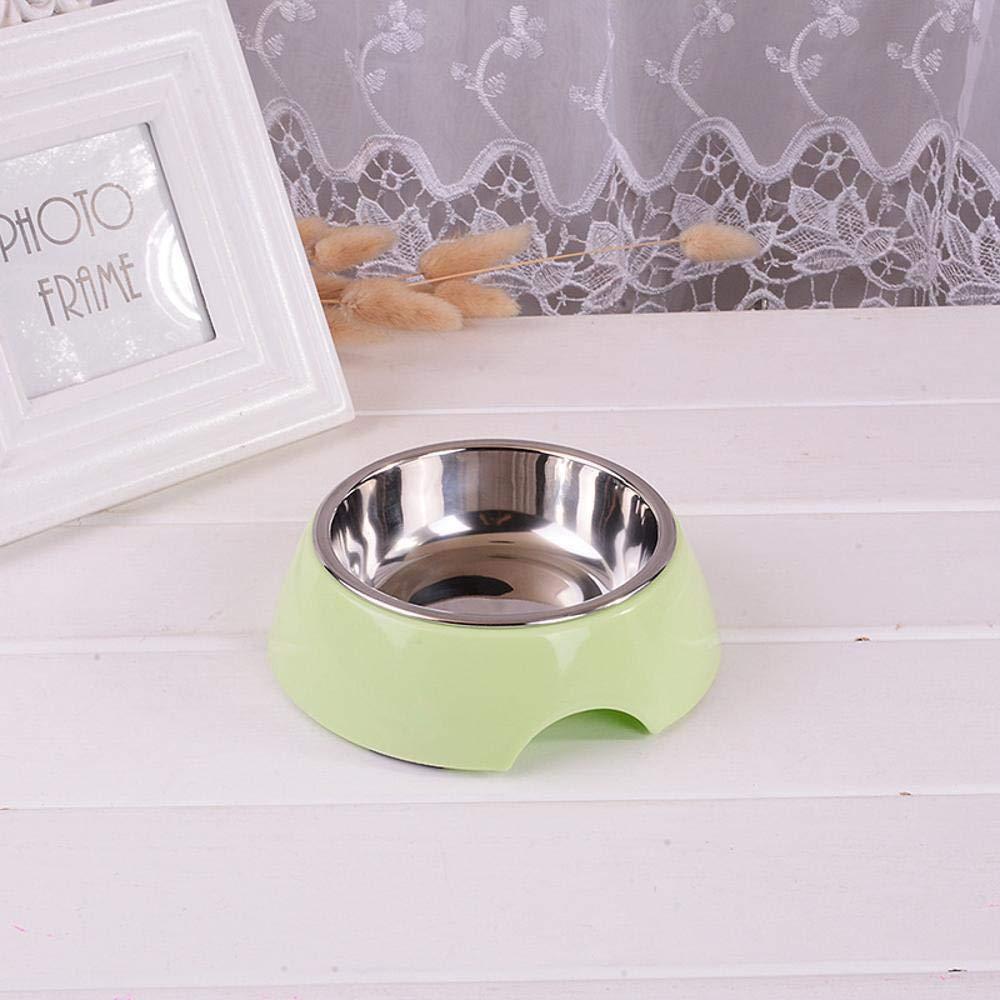 Daeou Ciotola del cane,Accessori per animali della ciotola in acciaio inox singolo tondo antiscivolo cibi e bevande