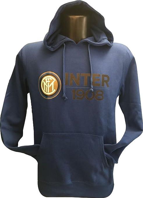 nuovo arrivo 0e510 9002c Inter Felpa Cappuccio Blu Logo Bambino FC
