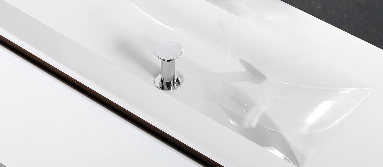 Badmöbel Set mit 120 cm Doppelwaschtisch Grau Hochglanz ... | {Badezimmermöbel doppelwaschbecken grau 60}