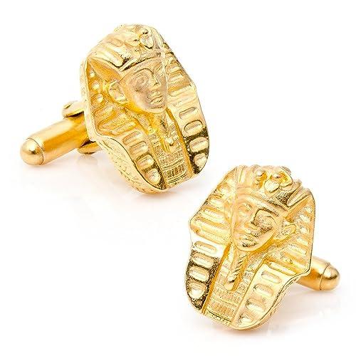 Tono de oro egipcio tutankamon máscara gemelos