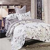 North Home - Iris 100% Cotton 4pc Duvet Cover Set (Queen)
