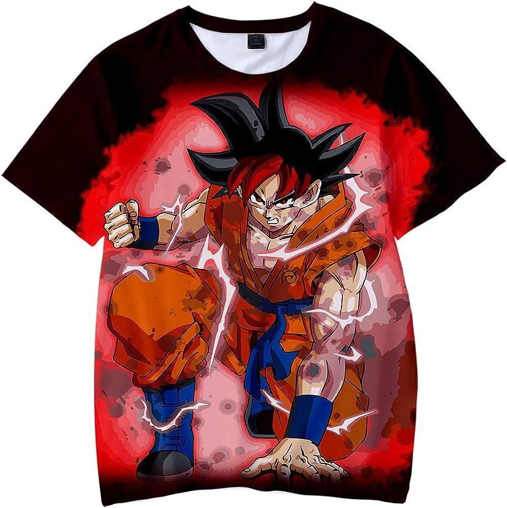 Dragon Ball Maglietta per Bambini T Shirt 3D modalit/à Cosplay T-Shirt Maniche Corte Son Goku Son Gohan Maglietta Camicia per Bambini