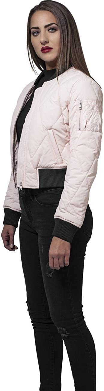 Urban Classics Ladies Diamond Quilt Short Bomber Donna
