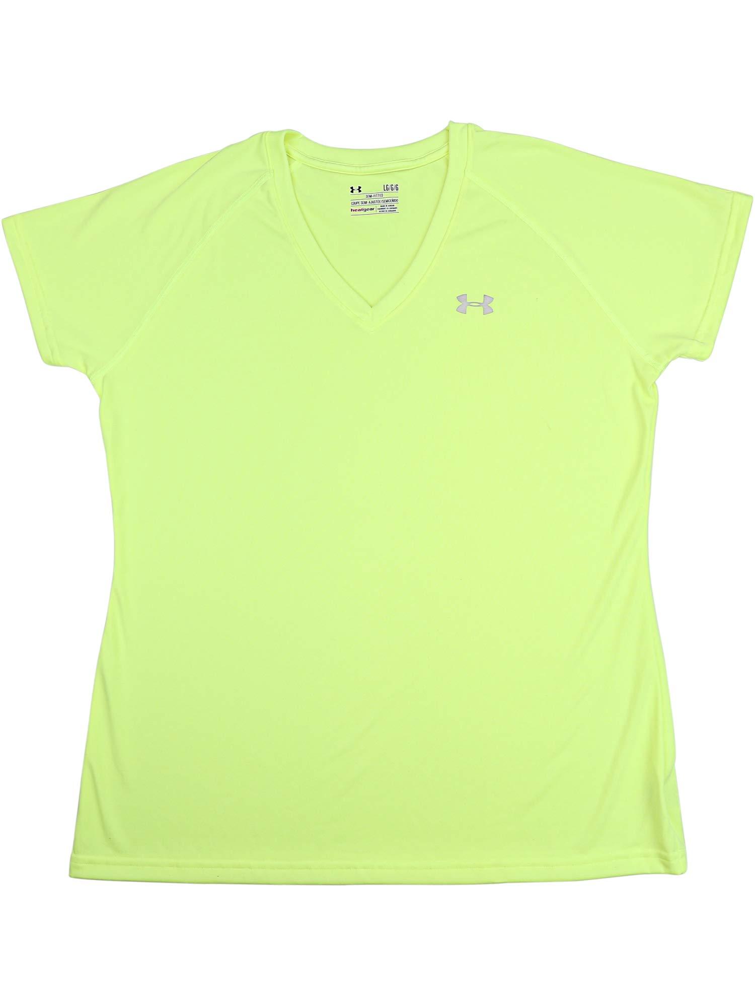 Under Armour Women's Taxi Tech V-Neck Jersey Short Sleeve Soccer - XS