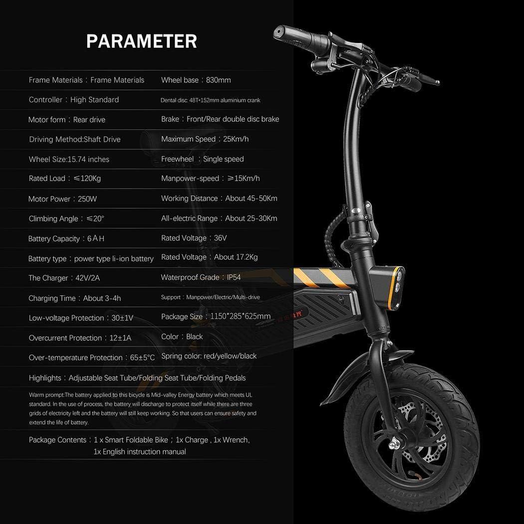 Amazon.com: Bicicleta eléctrica Lazinem 18,6 Millas de ...
