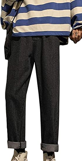 (BaLuoTe)ジーンズ メンズ デニムパンツ ファッション ズボン 秋 冬 メンズ ロングパンツ 裏毛 デニム パンツ メンズ 通勤 通学 パンツ