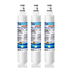 ICEPURE Refrigerator Water Filter, Compatible With Whirlpool 4396701,4396702,EDR6D1,Filter 6,L200V,Kenmore 9915, 46-9915 [3PACK]
