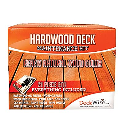 DeckWise Hardwood Deck Maintenance and Restoration Kit for Cleaning and Staining Wood Decks