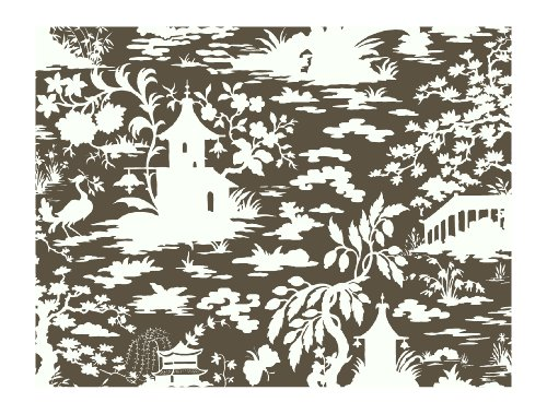 (York Wallcoverings AP7420SMP Silhouettes Asian Scenic Toile Wallpaper Memo Sample, 8-Inch x 10-Inch)
