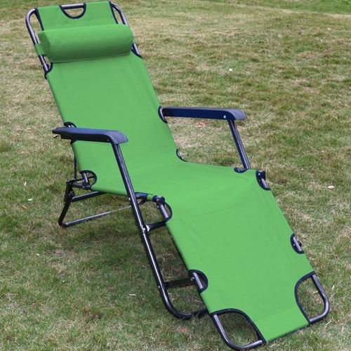 Nikkycozie 2 Foldable Chaise Metal Lounge Chair Patio Outdoor Pool Beach Lawn Recliner
