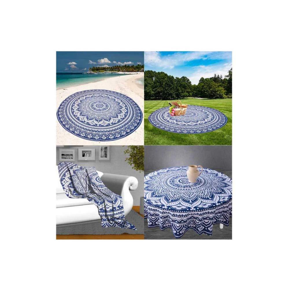 180 cm Colore: Blu Soleil docre 512015 Telo da Spiaggia in Cotone