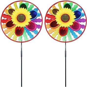 Toyvian 2 Unids Molino de Viento De Plástico Molinillo de Sol Flor ...