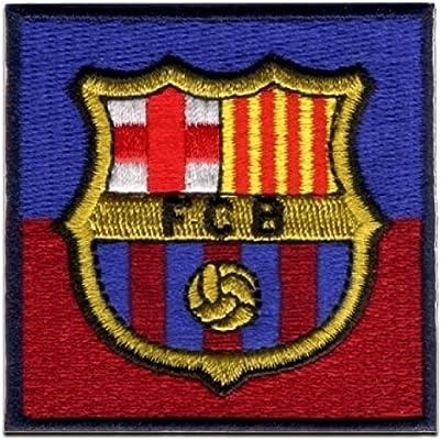 Parches - FC Barcelona Escudo - azul/rojo oscuro - 6x6cm - termoadhesivos bordados aplique para ropa: Amazon.es: Hogar