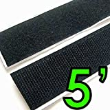 """Electriduct 2"""" Adhesive Backed Hook & Loop Sticky Back Tape Fabric Fastener - 5 Feet"""