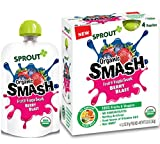 organic fruit veggie pouch - Sprout Organic SMASH, Organic Fruit Snack Pouches, Fruit and Vegetable Puree, Berry Blast, 3.2 Ounce, 4 Count