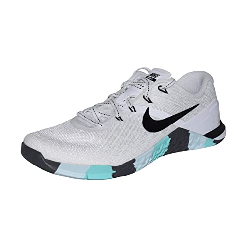 3e92fe0acec4d Nike Womens Metcon 3 Training Shoes (White Black Dark-Grey Teal