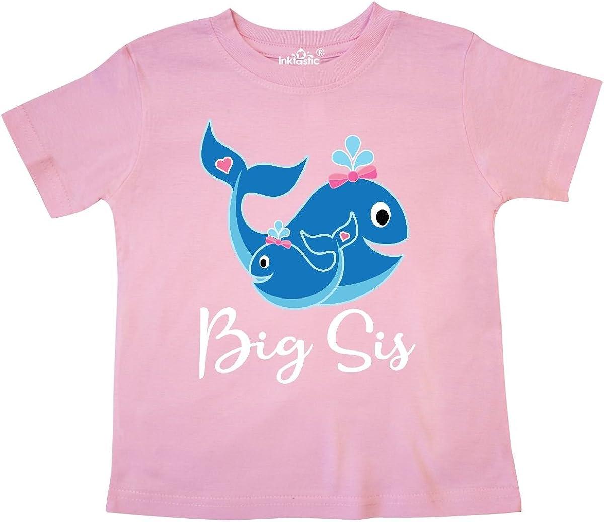 inktastic Big Sis Whale Girls Sister Toddler T-Shirt